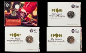 Royal Mint Treasure for Life The Longest Reigning Monarch 2015 UK £20 Pound Fine Silver Coin ( 3 )