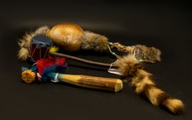 A Collection Of North American And Canadian Instruments Modelled after traditional native