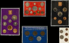Royal Mint Collection of United Kingdom Coin Sets ( 5 ) Comprises 1/ 1970 United Kingdom
