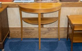 Demi Lune Hall Table Of typical form, raised on square tapering legs.