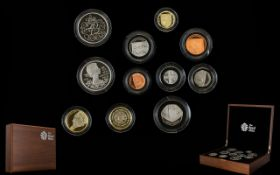 Royal Mint United Kingdom 2012 Ltd Edition Premium Proof Coin Collection ( 11 ) Proof Struck Coins
