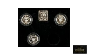 A Boxed Collection of Proof Struck Silver Coins For The European Championship 1992 and 1996 + Two