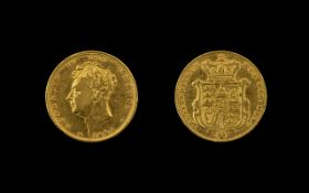 1825 George IV Young Head Sovereign Please see accompanying image for grading