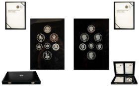 Royal Mint Ltd and Numbered Edition 2008 - United Kingdom Coinage Emblems of Britian - Silver