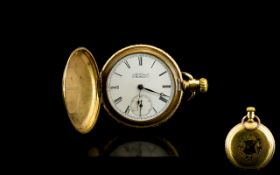 American Watch Co Waltham Gold Plated Full Hunter Pocket Watch. c.1890 - 1900.