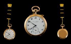 International Watch Co Schaffhausen 14ct Rose Gold - Keyless High Grade Chronometer Open Faced
