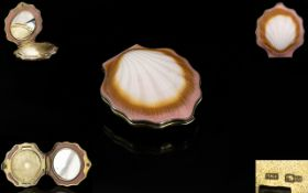 Russian Early - Mid 20th Century Silver Gilt And Early Plastic Powder Compact The whole