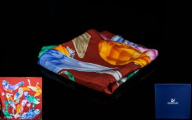 Swarovski Silk Scarf, With Original Box and Outer Sleeve,