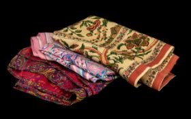 Liberty Of London A Collection Of Vintage Silk Scarves And Foulards Four items in total to include
