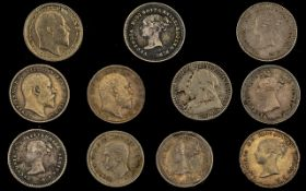 A Collection of Maundy Silver Proof Coins ( 11 ) Coins In Total.