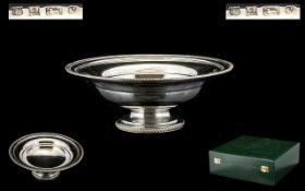Elizabeth II Nice Quality And Heavy Footed Silver Fruit Bowl comes with presentation display lidded