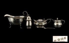 A Small Collection of Silver Items ( 4 ) In Total. From The Early 20th Century.