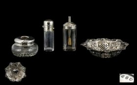 A Small Collection of Antique Silver Items ( 4 ) Items In Total.