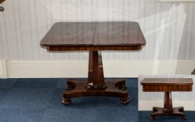 A Victorian Mahogany Tilt Top Tea Table