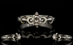 18ct White Gold Single Stone Set Diamond