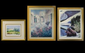 Three Decorative Prints Each framed and