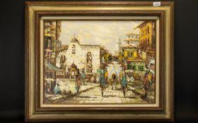 Original Impasto Oil On Canvas Depicting