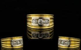 18ct Yellow Gold Contemporary Designed T