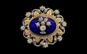 A 19th Century Style Silver, Gold Enamel