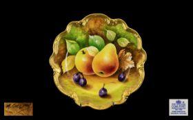 Coalport - Hand Painted Fruits Cabinet P