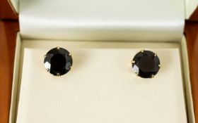 9ct Gold Stud Earrings Set With Large Ga