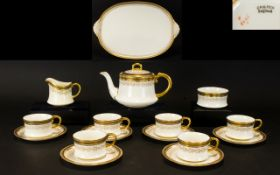 Cauldon China Coffee Set - for six. With