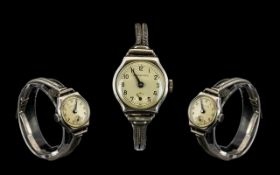 Garrards - Ladies Mechanical Silver Wris