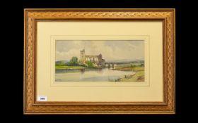 A. Vickers - A View of Maldeck Abbey, Yo