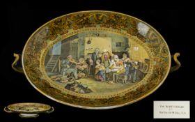 Pratt Ware Dish 'The Blind Fiddler. A Pr