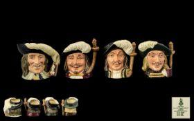 Royal Doulton Hand Painted Set of 4 Smal