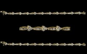 14ct White Gold Superb Baguette And Bril