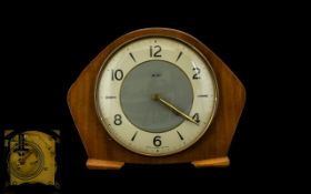 Smiths Art Deco Wooden Mantle Clock Arab