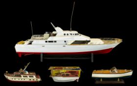 A Large Scratch Built Model Boat, partly