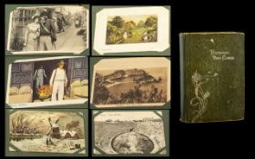 Collection of Postcards in an Album. Lovely collection of 200 postcards house in a vintage album.