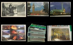 Three Books of Postcards. Some showing places of interest, some historical scenes, and many travel