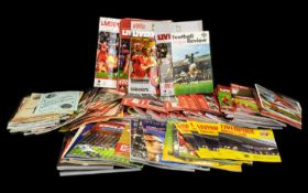 Large Collection of Football, Cricket & Rugby Programmes.