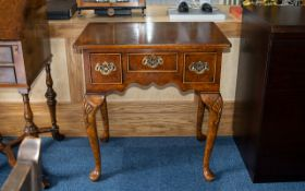 Reproduction Hall/Occasional Table. Nice quality hall/occasional table with three drawers.