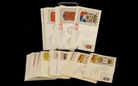 Spanish First Day Covers - approximately 50 in total from the 1960's, featuring coats of arms.