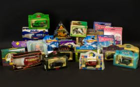 Mixed Box of Collectible Diecast Models to include Lledo car to mark the 90th Birthday of the Queen