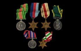 World War II Collection of Military Medals ( 5 ) Five In Total.