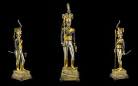 Giuseppe Vasari Large and Impressive Ltd and Numbered, Signed Gilt Bronze Figure. c.1970's.