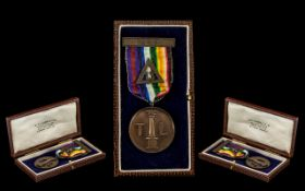 1933 Tuscan Lodge RAM no 454 Jewel and Ribbon in Fitted Case.