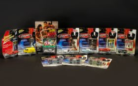 Collection of James Bond 007 Miniature Diecast Cars by Johnny Lightning.