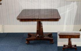 A Victorian Mahogany Tilt Top Tea Table on quatrefoil base and lift-over top with bobbin feet.