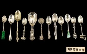 A Small But Excellent Collection of Old and Vintage Silver and Silver Plated Small Spoons ( 11 )