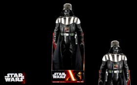 Star Wars - Delux 20 Inches Darth Vader Action Figure with Light Saber and Ten Authentic Voice