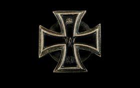 WW1 German Iron Cross 1st Class Screw Back Plate