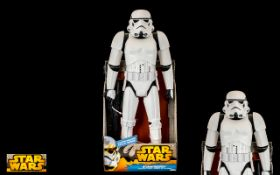 Star Wars - Delux ( Large ) Storm Trooper Action Figure - Blaster Included.