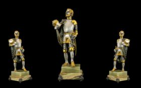 Giuseppe Vasari Large and Impressive Limited, Numbered and Signed - Gilt Bronze Figure. c.1970's.