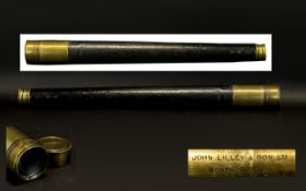 Victorian Period Single Drawer Tapered Coast guard Telescope,